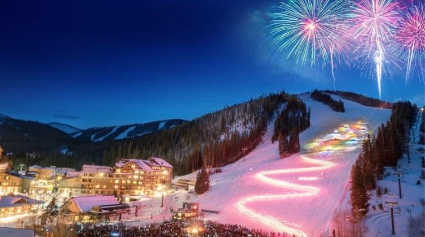 Grand County Christmas Eve Tradition - WPR Torchlight Parade Ski Down
